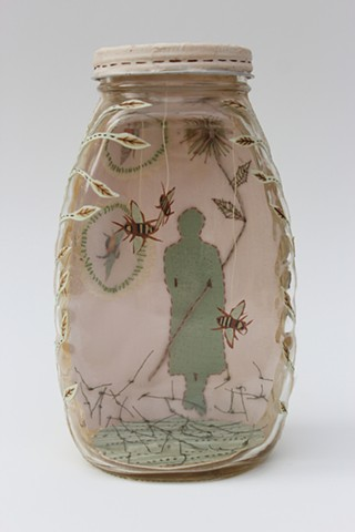 Honey jar, papercut