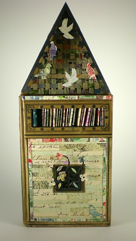 Found book, altered book, homing pigeon