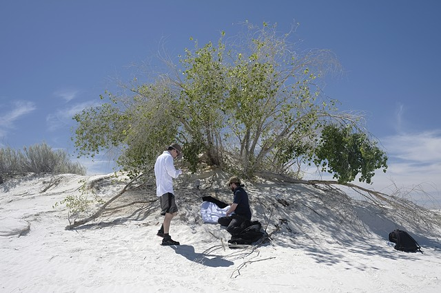 White Sands, NM: Adam and David with Sand Dune Camera