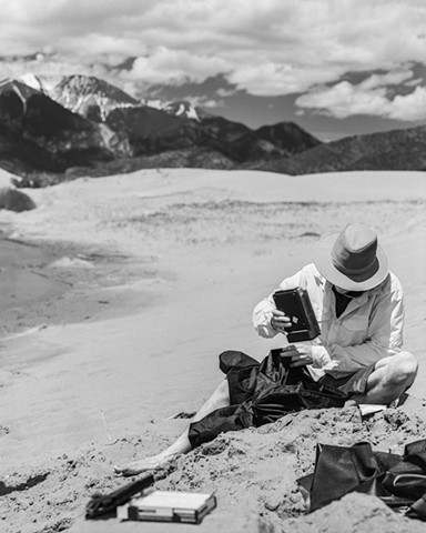 Great Sand Dunes, CO: David Repairs Instant Film Back