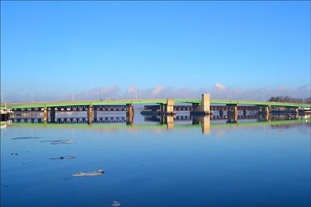 Winter Bridge Reflection
