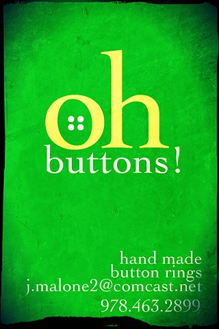 """""""Oh Buttons"""" logo and business card"""