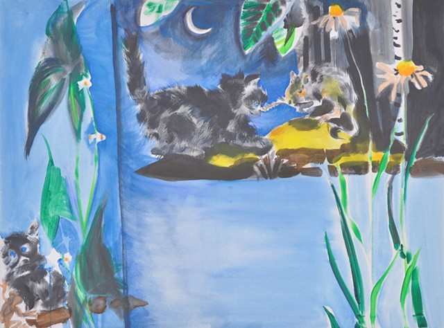 cat painting Margaret Wise Brown Pussy Willow motherhood holding space sacred space