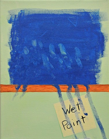 """April 8:   is it just me that finds it hard to resist the temptation of """"wet paint"""" sign?? I sooo WANNA touch!"""