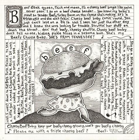 Cheesy Beef Boogie Lyric Sheet