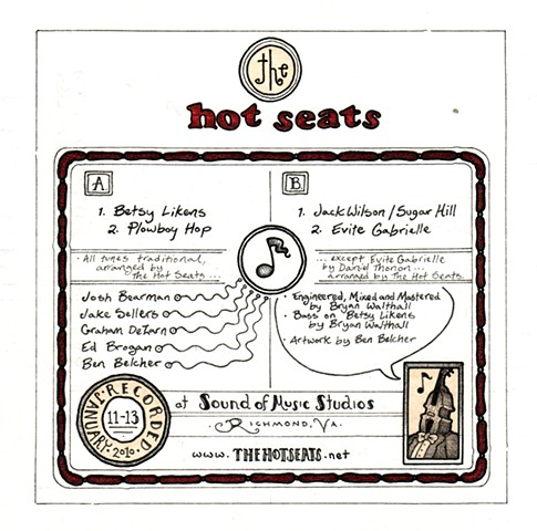 The Hot Seats ep (back)