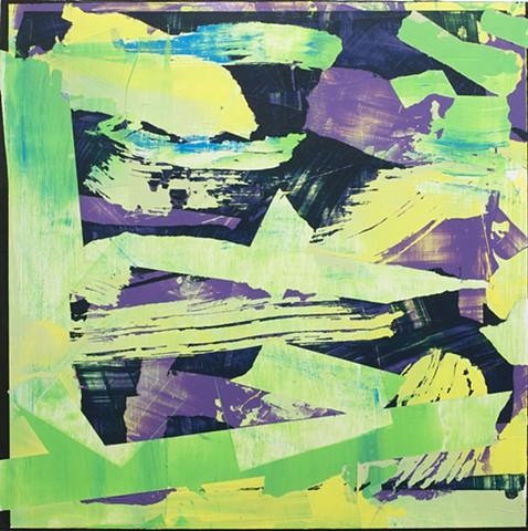 Square in Purple & Green