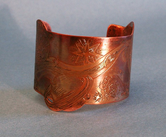 Tyler Ekker Class of 2016  Copper Cuff Etched Copper
