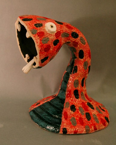 Klaudia Potapa Class of 2017  Snake Lamp Ceramic