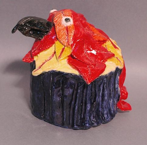 Ashley Jurek Class of 2017  Parrot Cupcake Ceramic