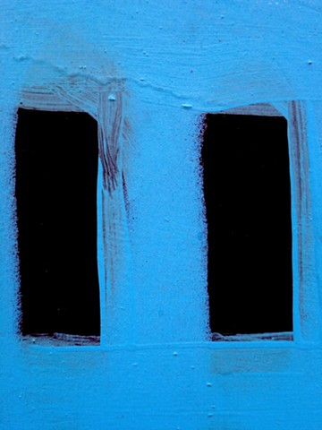 Blue Wall With 2 Black Rectangles: NYC