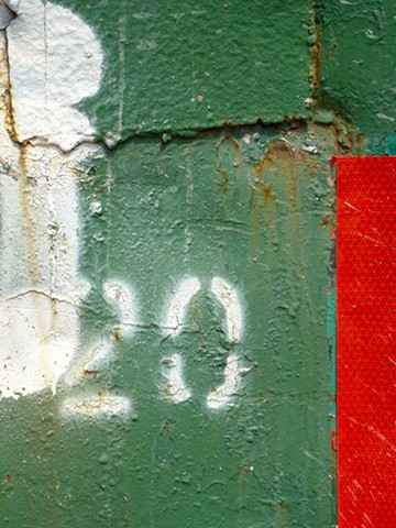 """""""20"""" red stripe from the New York City street series 2013"""