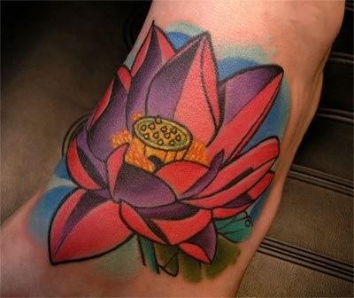 Lotus Flower Tattoo by Adam Sky, San Francisco, California