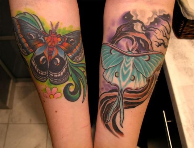 Moth Tattoo by Adam Sky, San Francisco, California