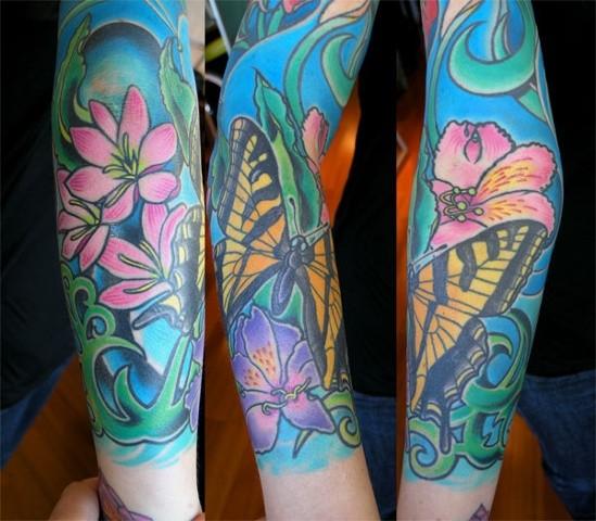 Butterfly Tattoo by Adam Tattoos, San Francisco, California