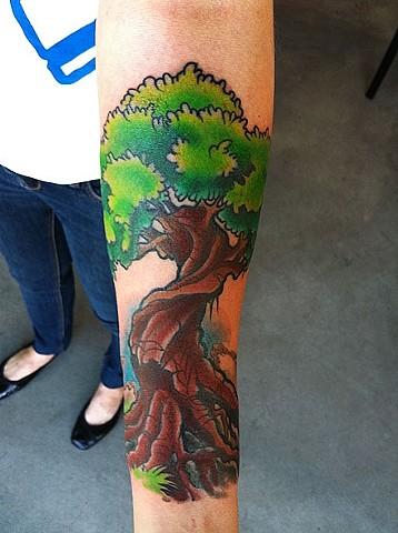 Tree Tattoo by Adam Tattoos, San Francisco, California