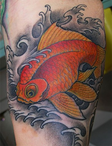 Goldflish Tattoo by Adam Tattoos, San Francisco, California