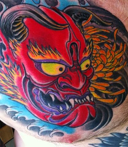 Hannya Tattoo by Adam Tattoos, San Francisco, California