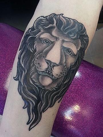 Lion tattoo by Adam Tattoos, San Francisco, California
