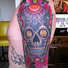 Sugar Skull Tattoo by Adam Tattoos, San Francisco, California