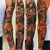 WWII Grandfather Portrait Sleeve Tattoo