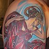 Mucha Woman Tattoo by Adam Tattoos, San Francisco, California