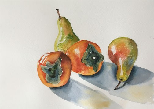 Pears and Persimmons