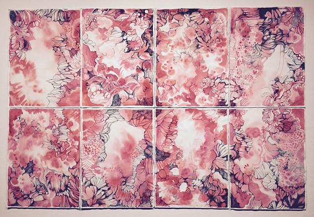 Rosacea installed at Esvelt Gallery