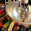 My Visiting Bobble-Head Hero 100 Degrees of Seperation Laundromat Little Haiti, FL