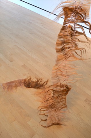 human hair chain depicting right whales