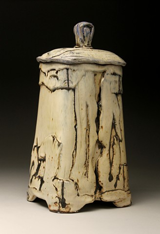 Wood fired stoneware pottery handmade craft sculpture design