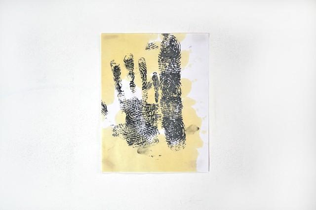 hacky sack, hand print