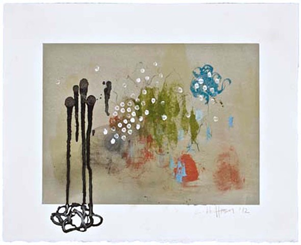 Cheri Hoffman mixed media on paper Very French