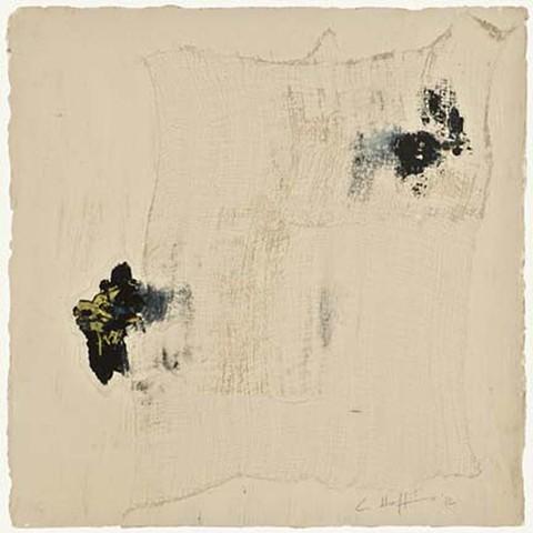 Cheri Hoffman mixed media on paper Bandage