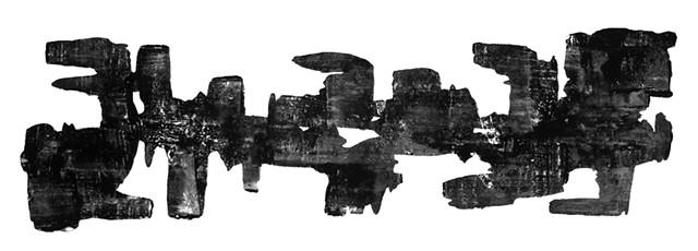 Cheri Hoffman oil and wax on cut mylar Untitled F1