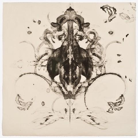 Cheri Hoffman collagraph Japanese paper printed at Pele Prints Leap #01