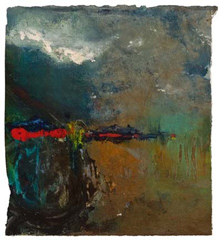 Cheri Hoffman oil on paper Abstract Landscape