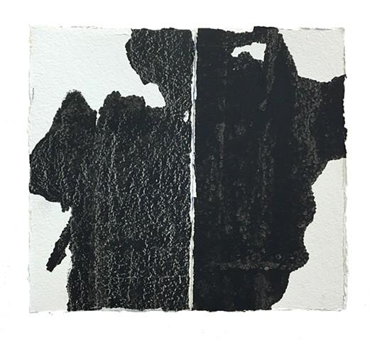 Cheri Hoffman oil on paper Indicia #2