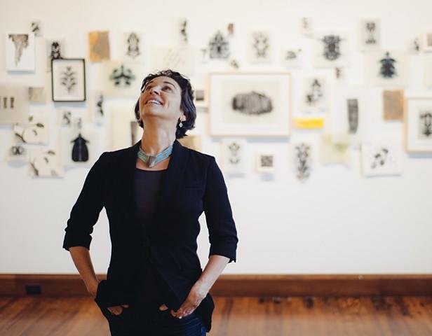 Cheri Hoffman in her studio