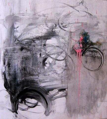 Cheri Hoffman oil on canvas Construct De-construct