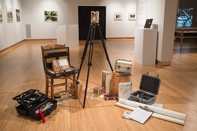 Installation shot from the show Anachronism by Design at St. Mary's College in Maryland