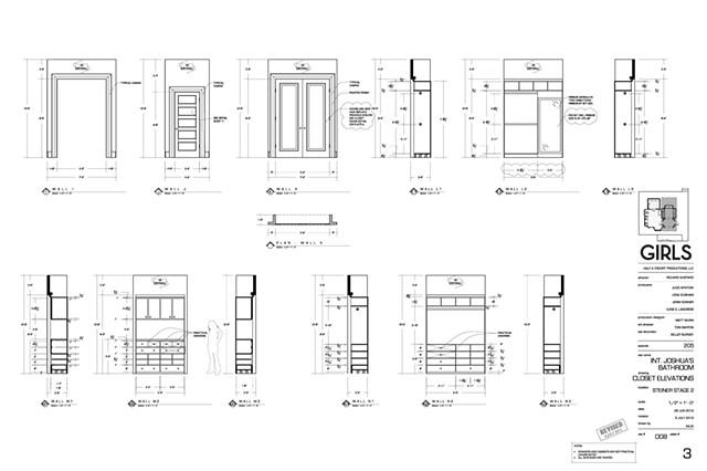 Joshua's Closet Elevations, Drafting