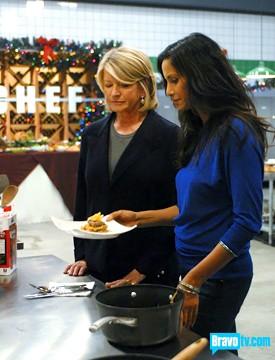 Martha Stewart in the Top Chef Kitchen