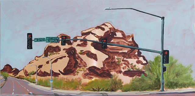 Detail- The Divide, Papago Buttes on McDowell Road (right)
