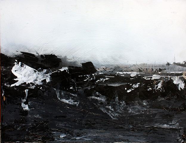 kansas feedlot landscape painting