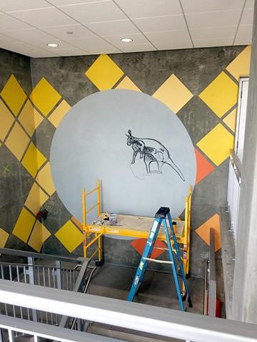 Park CR Stairwell Mural. Progress shot.