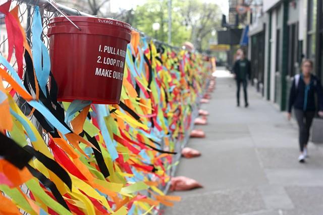 washington street iowa city ribbons installation thomas agran