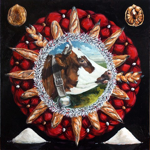 cow gluten free diet oil painting food politics