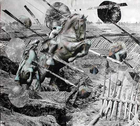 collage horse civil war
