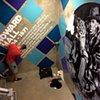 Park CR Stairwell Mural. Progress shot. (Vinyl installation underway)